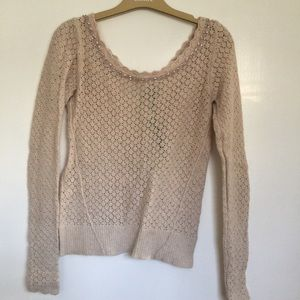 Nude Knit top from free people with diamond border